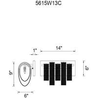 CWI Lighting 5615W13C Engaged 3 Light 6 inch Chrome Vanity Light Wall Light