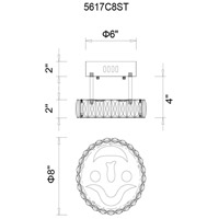 Expression LED 8 inch Chrome Flush Mount Ceiling Light