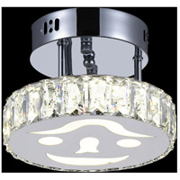 CWI Lighting 5617C8ST Expression LED 8 inch Chrome Flush Mount Ceiling Light