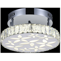 CWI Lighting 5618C12ST Aster LED 12 inch Chrome Flush Mount Ceiling Light