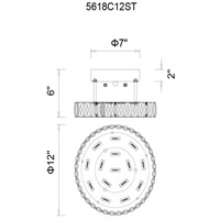 CWI Lighting 5618C12ST Aster LED 12 inch Chrome Flush Mount Ceiling Light photo thumbnail