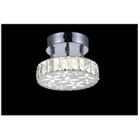 CWI Lighting 5618C8ST Aster LED 8 inch Chrome Flush Mount Ceiling Light