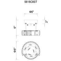 Aster LED 8 inch Chrome Flush Mount Ceiling Light