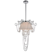 Draped 4 Light 20 inch Chrome Chandelier Ceiling Light