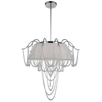 Draped 5 Light 24 inch Chrome Chandelier Ceiling Light