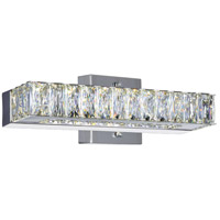CWI Lighting 5624W12ST Milan LED 12 inch Chrome Wall Sconce Wall Light