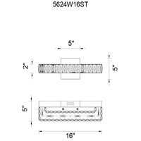 Milan LED 16 inch Chrome Wall Sconce Wall Light