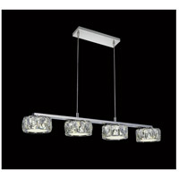 CWI Lighting 5625P28ST-RC Milan LED 28 inch Chrome Chandelier Ceiling Light