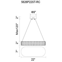 CWI Lighting Chrome Metal Milan Pendants