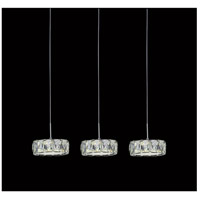 CWI Lighting 5626P26ST-RC Milan LED 26 inch Chrome Chandelier Ceiling Light