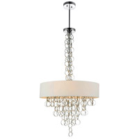 CWI Lighting 5627P26C Chained 8 Light 26 inch Chrome Chandelier Ceiling Light