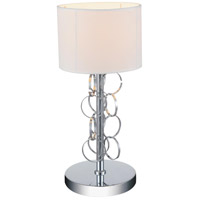 Chained 17 inch 60 watt Chrome Table Lamp Portable Light