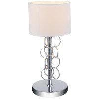 CWI Lighting 5627T8C Chained 17 inch 60 watt Chrome Table Lamp Portable Light