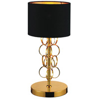 Chained 17 inch 60 watt Gold Table Lamp Portable Light