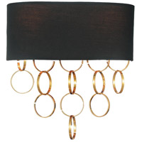 Chained 2 Light 12 inch Gold Wall Sconce Wall Light