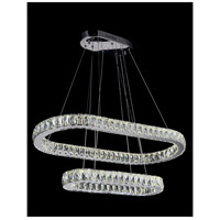 CWI Lighting 5628P34ST-2O Milan LED 34 inch Chrome Pendant Ceiling Light