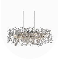 CWI Lighting 5630P37C-O Flurry 7 Light 37 inch Chrome Chandelier Ceiling Light