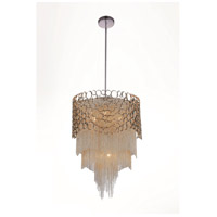 CWI Lighting 5631P17C-R Victoria 4 Light 17 inch Chrome Drum Shade Chandelier Ceiling Light