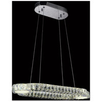 CWI Lighting 5632P30ST-RC Drew LED 30 inch Chrome Chandelier Ceiling Light