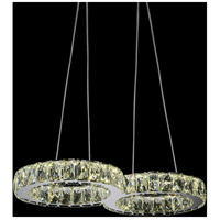 CWI Lighting 5633P22ST-O Infinite LED 22 inch Chrome Chandelier Ceiling Light