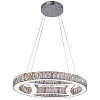 CWI Lighting 5634P20ST-R Beyond LED 20 inch Chrome Chandelier Ceiling Light