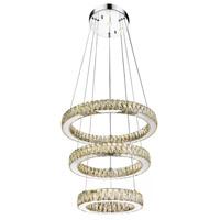CWI Lighting 5635P20ST-3R-(COGNAC) Florence LED 20 inch Chrome Chandelier Ceiling Light