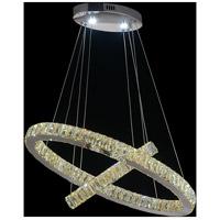 CWI Lighting 5635P27ST-2O-(COGNAC) Florence LED 27 inch Chrome Pendant Ceiling Light