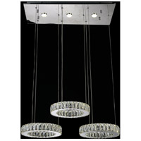 CWI Lighting 5635P27ST-RC Florence LED 27 inch Chrome Chandelier Ceiling Light
