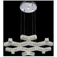 CWI Lighting 5642P30ST-R Arendelle LED 30 inch Chrome Chandelier Ceiling Light