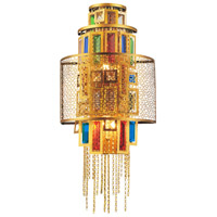 CWI Lighting 5647W12G Stained 3 Light 6 inch Gold Wall Sconce Wall Light