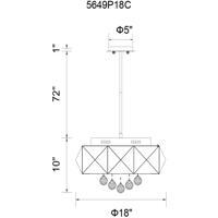 CWI Lighting 5649P18C Meuse 6 Light 18 inch Chrome Chandelier Ceiling Light