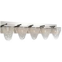 CWI Lighting 5652W36C-5 Finke 5 Light 36 inch Chrome Wall Sconce Wall Light