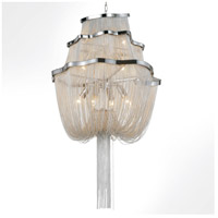 CWI Lighting 5654P20C Secca 9 Light 20 inch Chrome Down Chandelier Ceiling Light