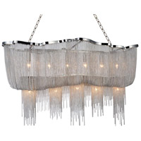 CWI Lighting 5654P55C-RC Secca 13 Light 55 inch Chrome Island Chandelier Ceiling Light