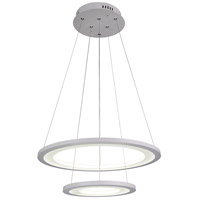 Alloha LED 20 inch White Chandelier Ceiling Light