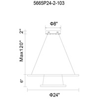 Alloha LED 24 inch White Chandelier Ceiling Light