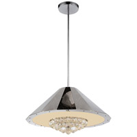 CWI Lighting 5666P25C Yangtze 9 Light 25 inch Chrome Chandelier Ceiling Light