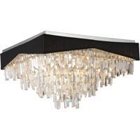 CWI Lighting 5674C18C-B Havely 13 Light 18 inch Chrome Flush Mount Ceiling Light