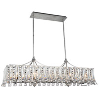 CWI Lighting 5683P48-10-190 Nile 10 Light 48 inch Antique Forged Silver Chandelier Ceiling Light