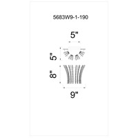 CWI Lighting 5683W9-1-190 Nile 1 Light 5 inch Antique Forged Silver Wall Sconce Wall Light