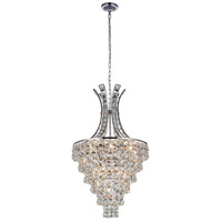CWI Lighting 5685P16C Chique 9 Light 16 inch Chrome Chandelier Ceiling Light