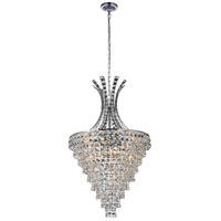 CWI Lighting 5685P24C Chique 13 Light 24 inch Chrome Chandelier Ceiling Light