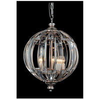 CWI Lighting 5686P18-5-108 Colorado 5 Light 18 inch Antique Forged Silver Chandelier Ceiling Light