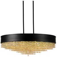 CWI Lighting 5687P30-22-101 Medina 15 Light 30 inch Black Chandelier Ceiling Light