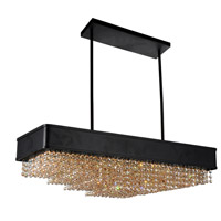 CWI Lighting 5687P32-20-101 Medina 10 Light 32 inch Black Chandelier Ceiling Light