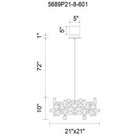 CWI Lighting 5689P21-8-601 Arley 8 Light 21 inch Chrome Chandelier Ceiling Light