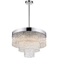 CWI Lighting 5695P25-9-601 Carlotta 9 Light 25 inch Chrome Chandelier Ceiling Light