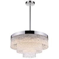 CWI Lighting 5695P32-12-601 Carlotta 12 Light 32 inch Chrome Down Chandelier Ceiling Light