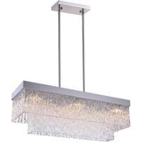 CWI Lighting 5695P35-8-601-RC Carlotta 8 Light 35 inch Chrome Chandelier Ceiling Light