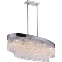 CWI Lighting 5695P36-8-601-O Carlotta 8 Light 36 inch Chrome Island Chandelier Ceiling Light